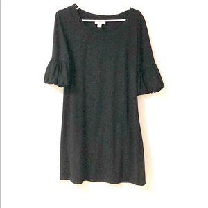 BOGO LOFT Black Knit 3/4 Length Sleeve Dress